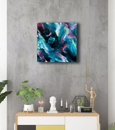 (CreativeWork) Fracking Reef Blow Out  – Original Painting by Jacquelyn Stephens. Mixed Media. Shop online at Bluethumb.