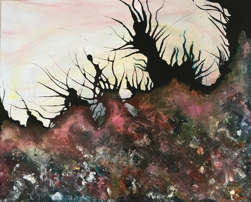 (CreativeWork) Backburn Original by Jayne Curle-The Self Conscious Extrovert. Acrylic Paint. Shop online at Bluethumb.