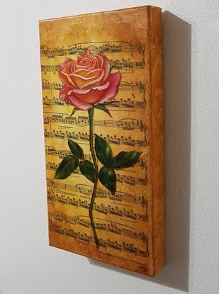 (CreativeWork) Music Rose II by Natasha Junmanee. Mixed Media. Shop online at Bluethumb.