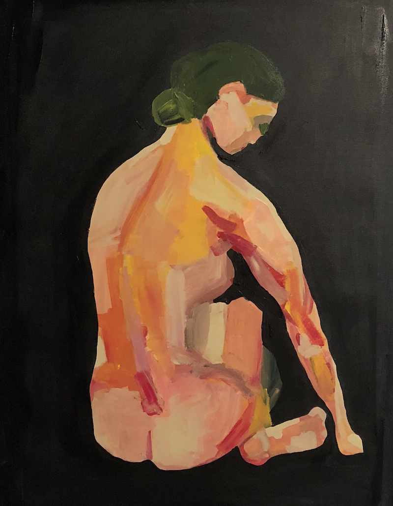 (CreativeWork) Nude of Orquevaux by Sharon Monagle. Acrylic Paint. Shop online at Bluethumb.