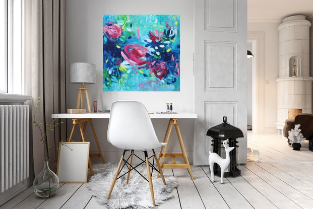 (CreativeWork) You Tickle My Fancy by Belinda Nadwie. Oil. Shop online at Bluethumb.