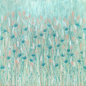 (CreativeWork) Pastel Wild Flowers LARGE Square 101cm x 101cm by Lisa Frances Judd. #<Filter:0x00007ff1bde6f710>. Shop online at Bluethumb.