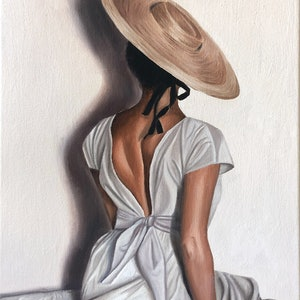 (CreativeWork) Femme by Ashley Bunting. oil-painting. Shop online at Bluethumb.