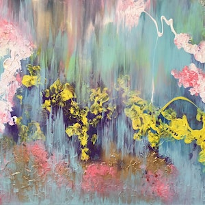 (CreativeWork) Floral Beauty by Magdalena Knight. arcylic-painting. Shop online at Bluethumb.