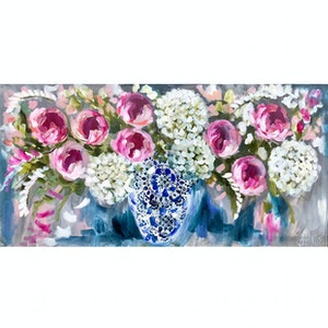 (CreativeWork) Midsummer blooms  by Amanda Brooks. arcylic-painting. Shop online at Bluethumb.