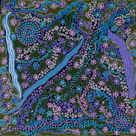 (CreativeWork) Bush flowers (18-EP164) by Shirley Beasley. Acrylic Paint. Shop online at Bluethumb.