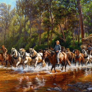(CreativeWork) move the pub - CROSSING BROKEN RIVER ( Size D) Ed. 2 of 150 by Jennifer Marshall. print. Shop online at Bluethumb.