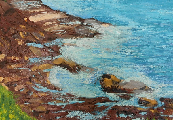 (CreativeWork) An Islet Somewhere by Sharon Robards. Oil Paint. Shop online at Bluethumb.