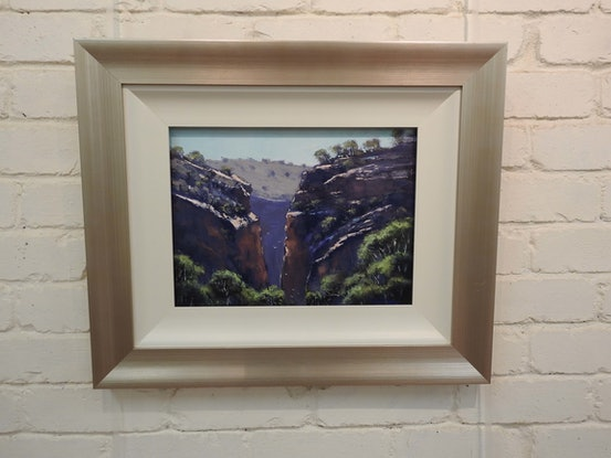 (CreativeWork) Serpentine Gorge by John Rice. Oil Paint. Shop online at Bluethumb.