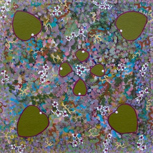 (CreativeWork) Flowers in the dry season (18-CC25) by Fiona Corbett. Acrylic Paint. Shop online at Bluethumb.