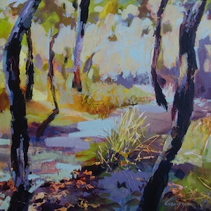 (CreativeWork) Bushland Dreaming by Carmen McFaull. acrylic-painting. Shop online at Bluethumb.