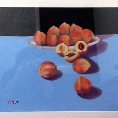 (CreativeWork) Peaches by venur gorloff. Oil Paint. Shop online at Bluethumb.