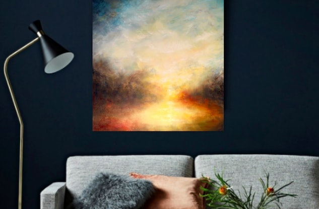 (CreativeWork) The Golden Light by Cathy Yarwood - Mahy. Oil Paint. Shop online at Bluethumb.