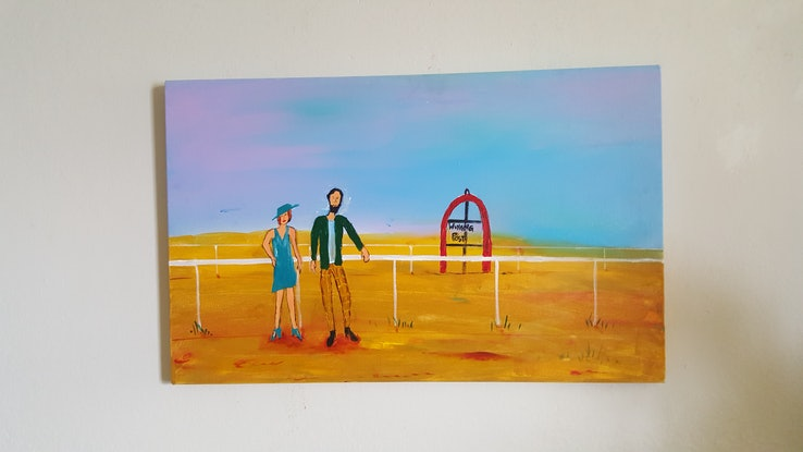 (CreativeWork) The Winning Post by Little Heath. Oil Paint. Shop online at Bluethumb.
