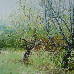 """(CreativeWork) """"SUMMER LAND"""". by Alorna & Co. oil-painting. Shop online at Bluethumb."""