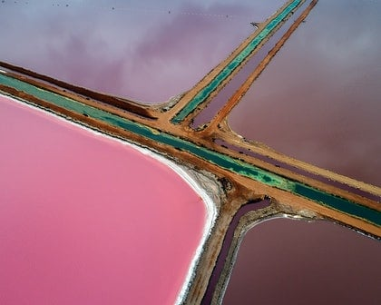 (CreativeWork) Pink Lake series 03 by Craig Hammersley. photograph. Shop online at Bluethumb.