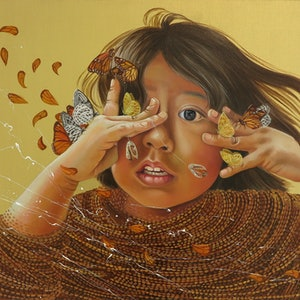 (CreativeWork) Daughter Of Earth II by Katherine Gailer. Oil Paint. Shop online at Bluethumb.