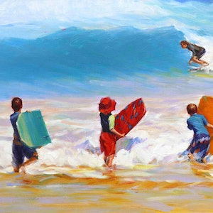 (CreativeWork) Exploring In The Sea by Grace Huang. oil-painting. Shop online at Bluethumb.