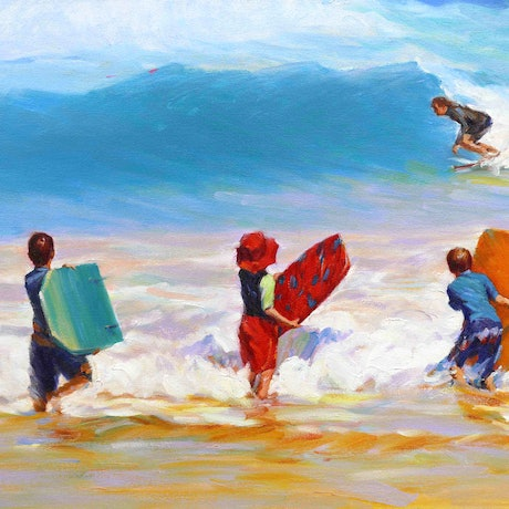 (CreativeWork) Exploring In The Sea by Grace Huang. Oil Paint. Shop online at Bluethumb.