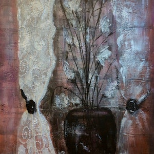 (CreativeWork) Genteel Chic by Louise Croese. mixed-media. Shop online at Bluethumb.