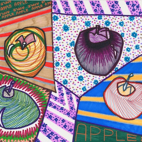 (CreativeWork) APPLES by Tanya Lu. Drawings. Shop online at Bluethumb.