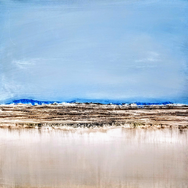 (CreativeWork) Sea to Sky by Josephine Ann Pitsiava. arcylic-painting. Shop online at Bluethumb.