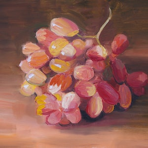 (CreativeWork) Grapes Study by Roland Weight. oil-painting. Shop online at Bluethumb.