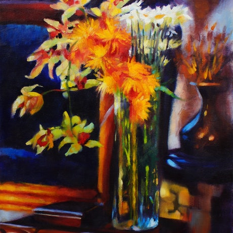(CreativeWork) TOUCH OF GOLD by Sandra Michele Knight. Oil Paint. Shop online at Bluethumb.