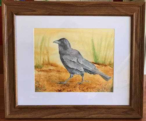 (CreativeWork) Little Raven by Kathryn Price. Mixed Media. Shop online at Bluethumb.