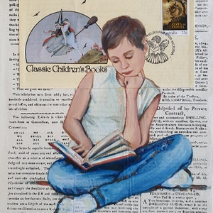 (CreativeWork) Classic Children's Books 1985 by Sherry McCourt. mixed-media. Shop online at Bluethumb.