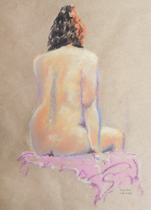 (CreativeWork) Spontaneity I - Nude sketch by Jillian Crider. Drawings. Shop online at Bluethumb.