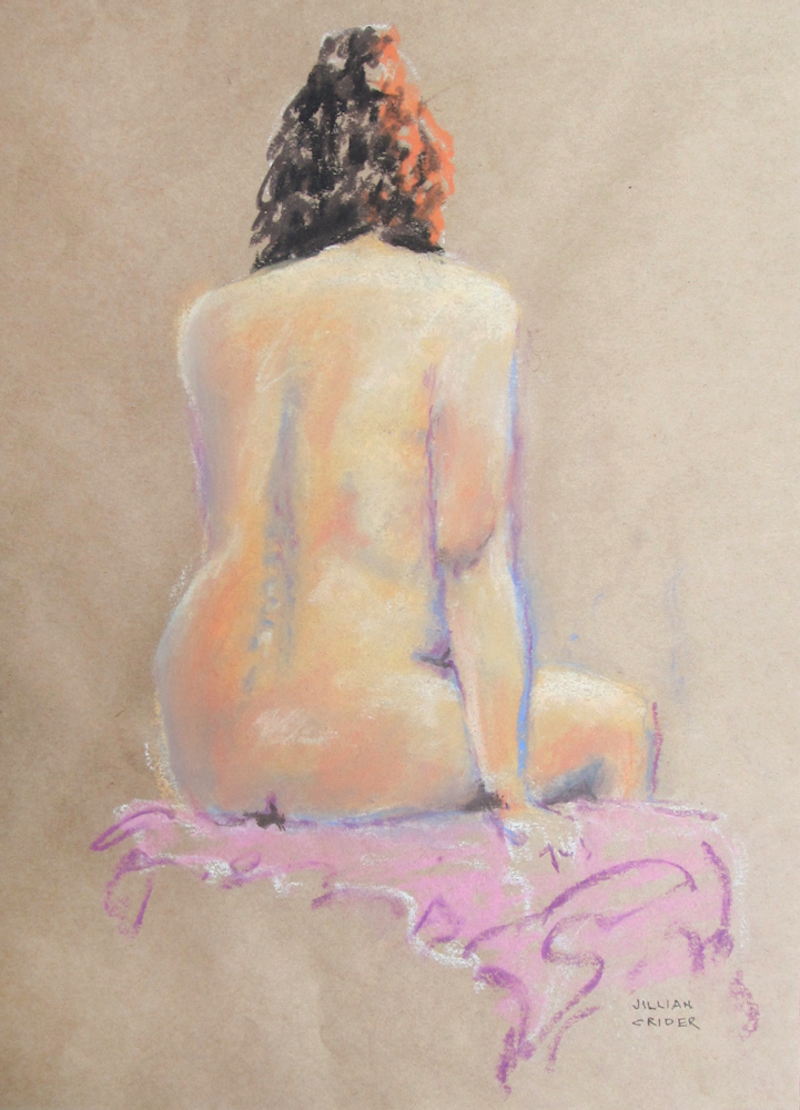 (CreativeWork) Spontaneity I - Nude sketch by Jillian Crider. drawing. Shop online at Bluethumb.