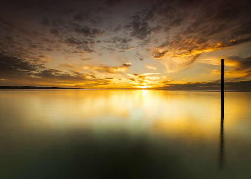 (CreativeWork) Westernport bay sunset by Piers Buxton. photograph. Shop online at Bluethumb.