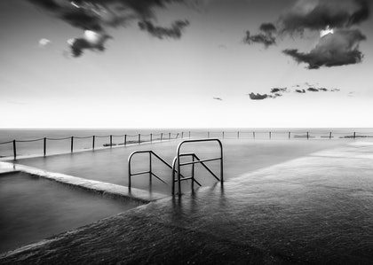 (CreativeWork) Newport sea baths by Piers Buxton. photograph. Shop online at Bluethumb.