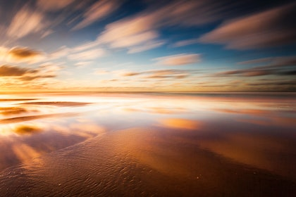 (CreativeWork) Fairhaven sunrise by Piers Buxton. photograph. Shop online at Bluethumb.