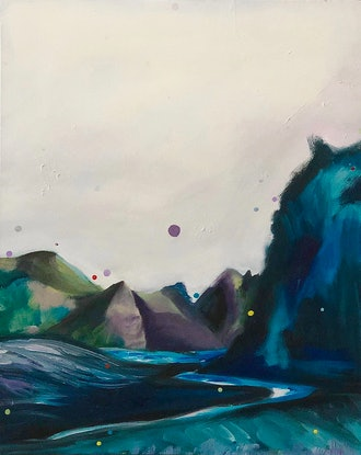(CreativeWork) Drops of the Unknown by Yunn Ru Soo. Oil Paint. Shop online at Bluethumb.