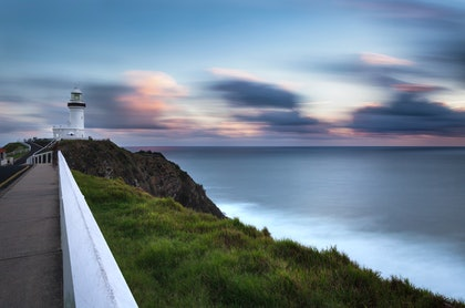 (CreativeWork) Byron Bay lighthouse by Piers Buxton. photograph. Shop online at Bluethumb.