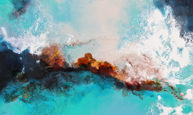 (CreativeWork) Reef alive by Sue Dyde. mixed-media. Shop online at Bluethumb.