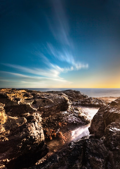 (CreativeWork) Kilcunda sunset by Piers Buxton. photograph. Shop online at Bluethumb.