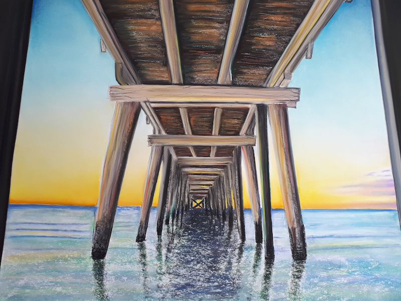 (CreativeWork) Semaphore jetty by Dylan Shelmerdine. drawing. Shop online at Bluethumb.