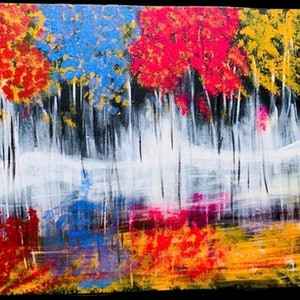 (CreativeWork) Autumn by Ria Rushin Joseph. acrylic-painting. Shop online at Bluethumb.