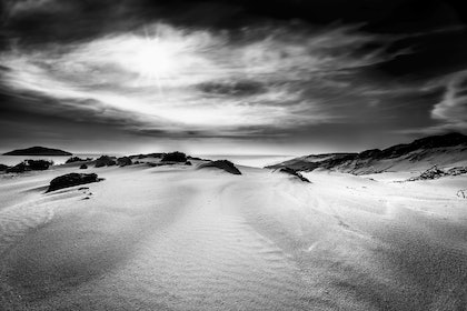(CreativeWork) darby Beach sand dune, Wilsons Promontory by Piers Buxton. photograph. Shop online at Bluethumb.