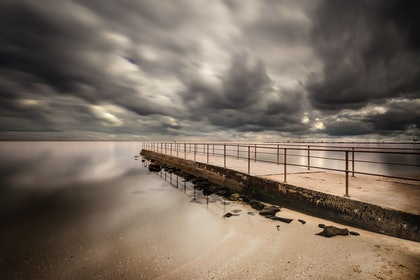 (CreativeWork) Middle Park beach by Piers Buxton. photograph. Shop online at Bluethumb.