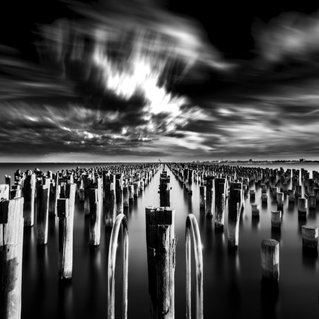 (CreativeWork) Princes Pier, Port Melbourne Ed. 1 of 4 by Piers Buxton. Photograph. Shop online at Bluethumb.