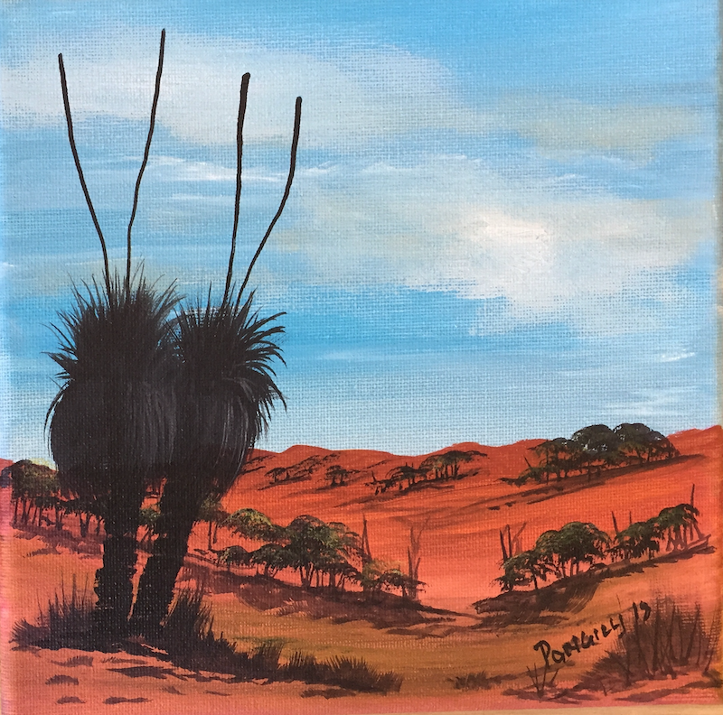 (CreativeWork) Grasstree, small by Joseph Williams. acrylic-painting. Shop online at Bluethumb.