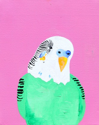 (CreativeWork) George by Lillie Atkins. Acrylic Paint. Shop online at Bluethumb.