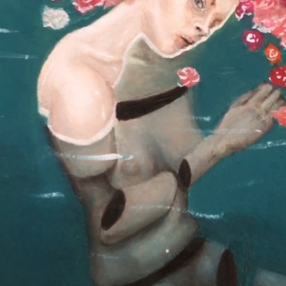 (CreativeWork) In Pieces Beneath the Surface  by Madeline Gillies. Oil Paint. Shop online at Bluethumb.