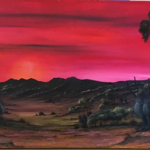 (CreativeWork) RED, STIRLING RANGES by Joseph Williams. arcylic-painting. Shop online at Bluethumb.