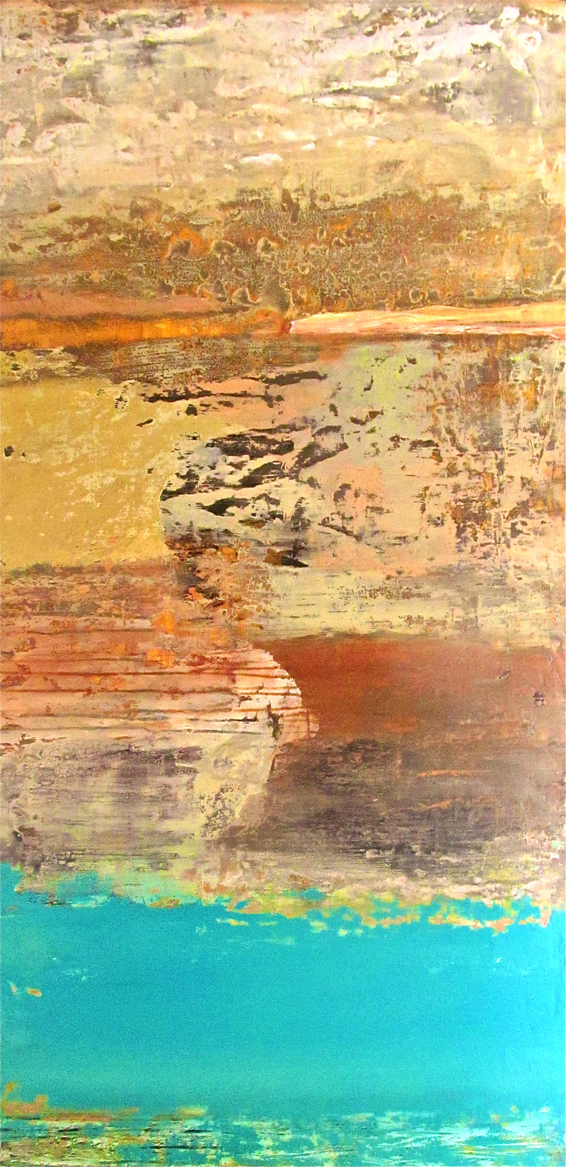 (CreativeWork) Ancient Rock Pool no. 2 by Jack Isbister. arcylic-painting. Shop online at Bluethumb.
