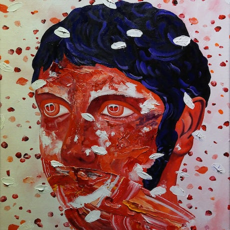 (CreativeWork) Emperor Elagabalus by Jeremy Elkington. Oil Paint. Shop online at Bluethumb.